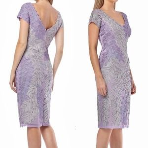 JS Collections Embroidered Leaf A-Line Gown NWT